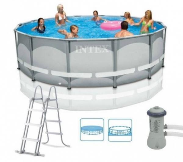 28310 Каркасный бассейн Ultra-Frame 427х107 см + 5 аксессуаров (INTEX, Китай)