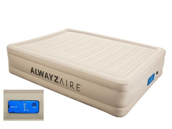 69032 BW Надувная кровать  с автоподкачкой 203х152х43см, Alwayzaire Fortech встроенный электронасос