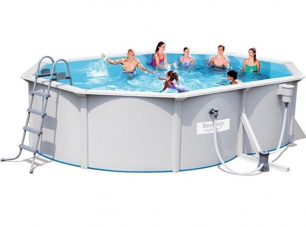 56583 BW Каркасный бассейн со стальными стенками 500*360*120см, фил.-насос, лестница, подложка