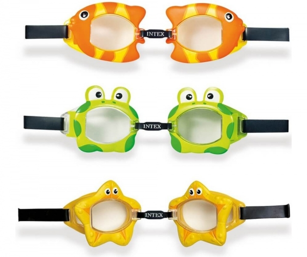 "55603 Очки для плавания ""Fun"" от 3 до 8 лет, 3 вида"