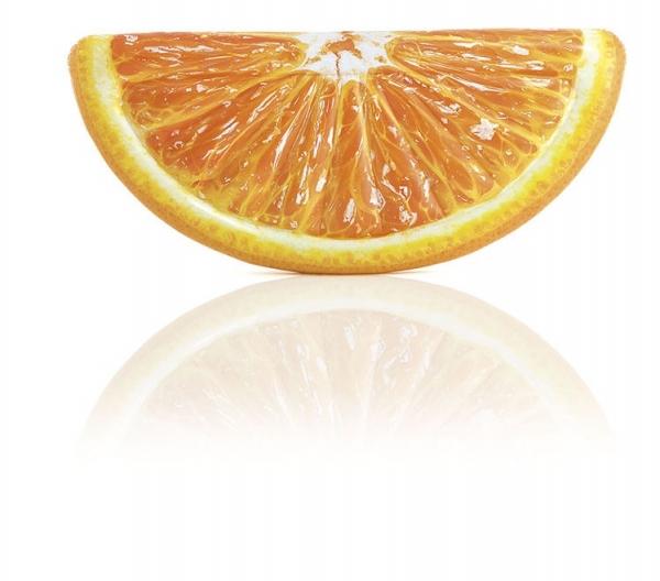 """58763 Надувной плотик """"Апельсиновая долька"""" 178х85см"""