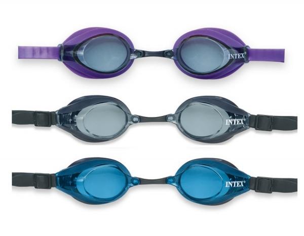 """55691 Очки для плавания """"Pro Racing"""", 3 цвета, от 8 лет"""
