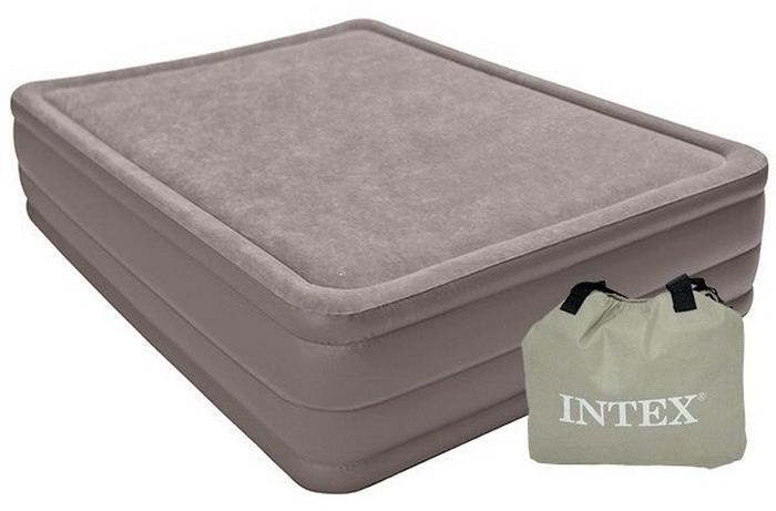 64468 Надувная кровать Intex 152х203х51см встрн.насосом 220в