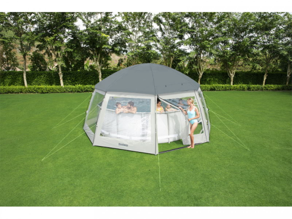58612 BW Круглый купол для бассейна, 600x600x295см