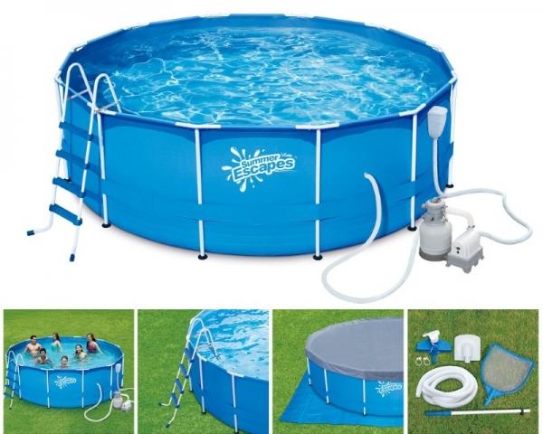 P20-1248-S Каркасный бассейн SUMMER ESCAPES 366*122 см, полный комплект