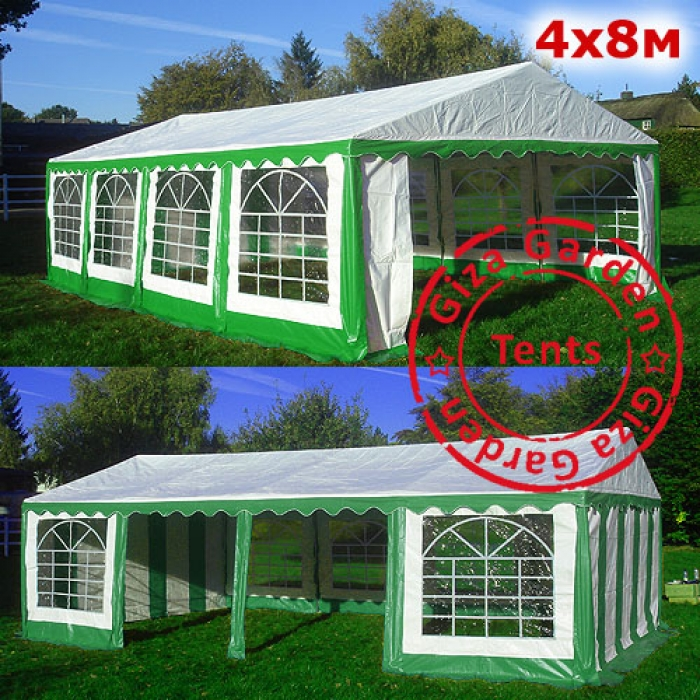Шатер Giza Garden 4x8, зелено-белый