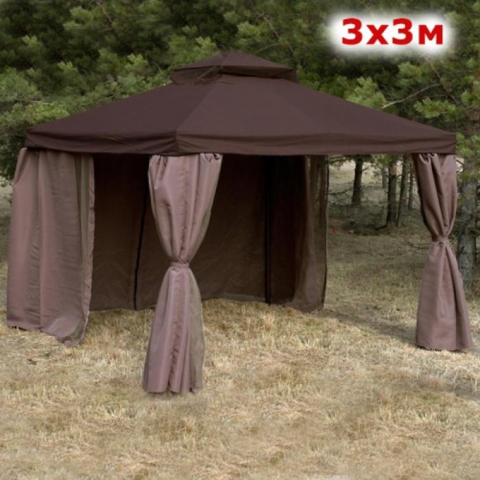 Тент-шатер Ronda 3x3 м коричневый