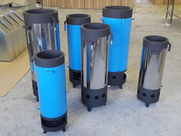 Нагреватель воды для бассейна на твердом топливе 40 кВт