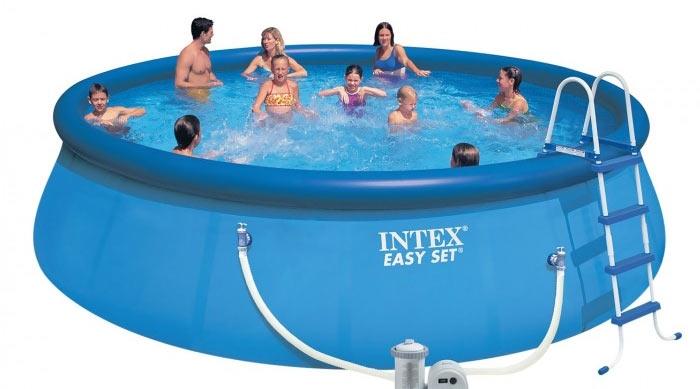 Intex 28176 Бассейн надувной Easy Set 549*122 см + 5 аксессуаров