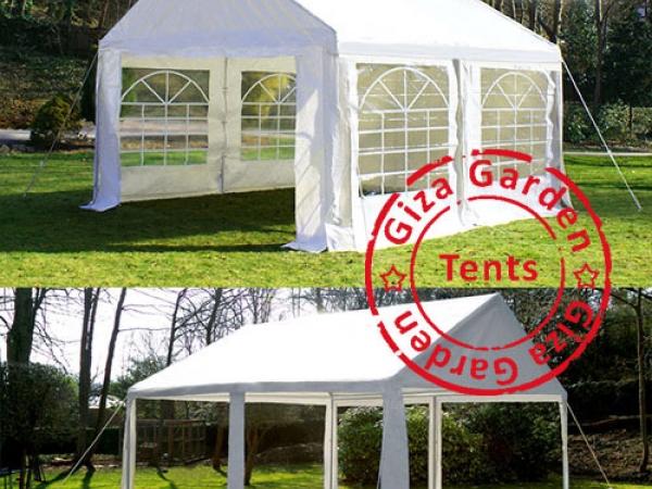 Тент-шатер Giza Garden 4x4м белый