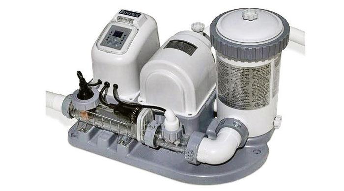Система очистки воды (хлорогенератор) *Кристалл* + фильтр-насос, до 26м3, 4,5м3/ч Intex-28674
