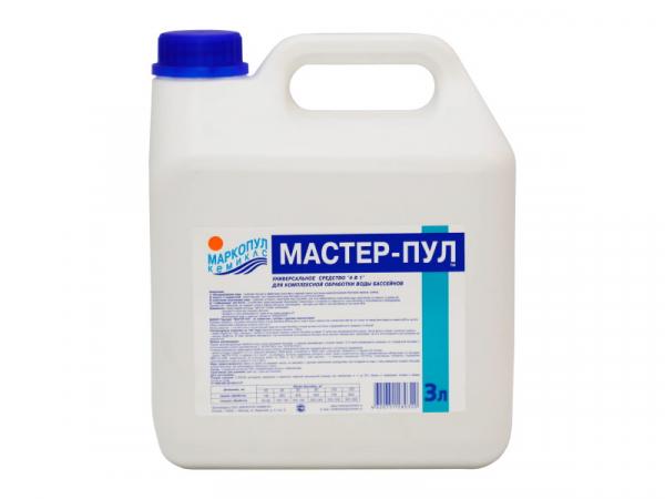 МАСТЕР-ПУЛ, 3л канистра, жидкое безхлорное средство 4 в 1 для обеззараживания и очистки воды