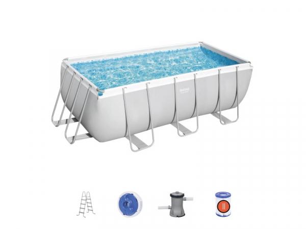 56456 Прямоугольный каркасный бассейн Bestway, 412х201х122см