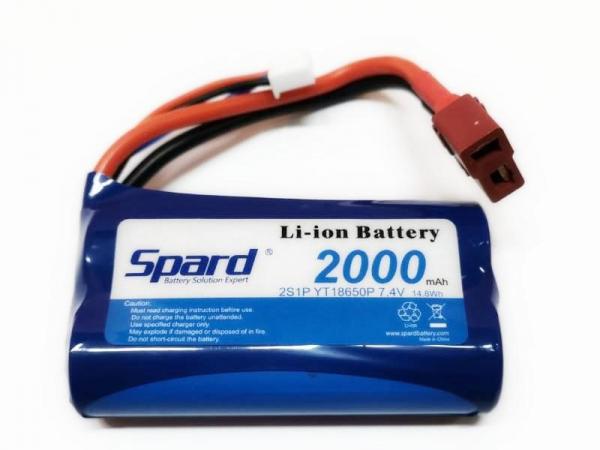 Аккумулятор Li-ion 7.4V 2000mAh для Remo Hobby 1:16