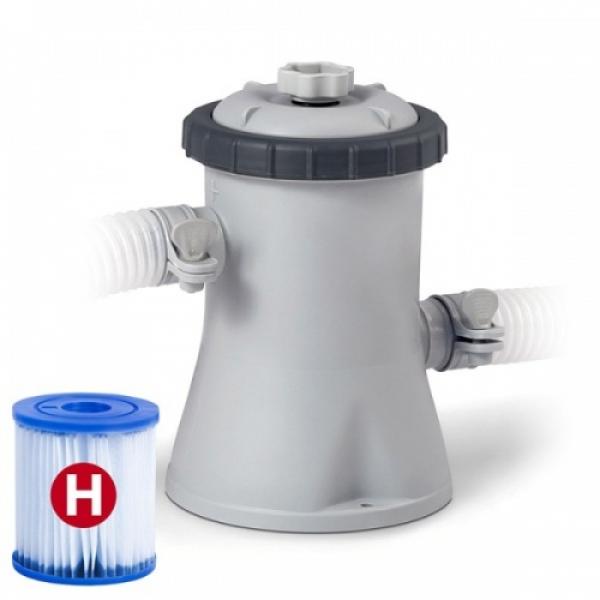 28602 Картриджный фильтр-насос Krystal Clear для бассейнов не более 305 см, 1250л/ч, картридж H