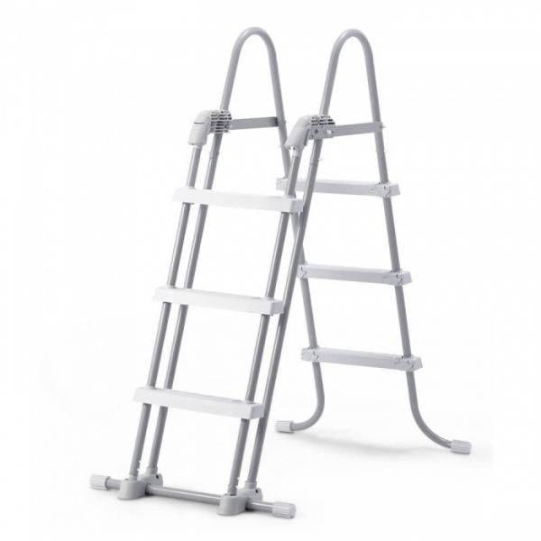 28075 Лестница для бассейнов до 107см, 3 ступеньки, без площадки, с защитой