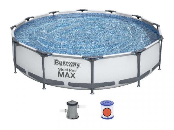 56416/56062 Бассейн каркасный Steel Pro Frame 366*76 см + фильтр-насос Bestway