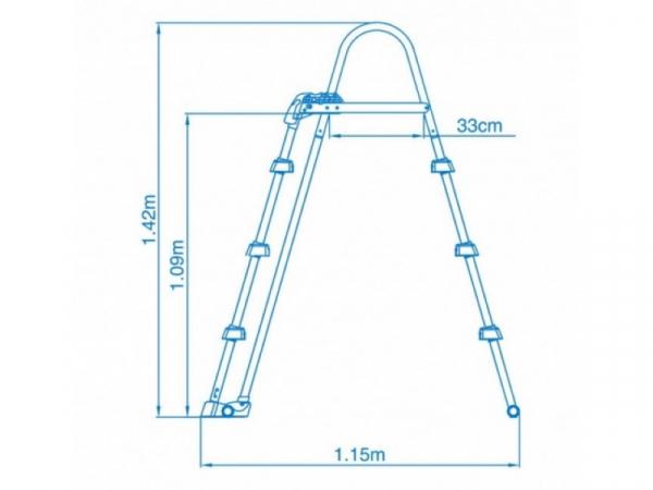 28072 Лестница для бассейнов от 91 до 107 см