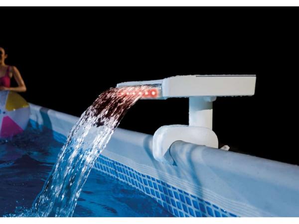 28090 Водопад для бассейна с цветной LED-подсветкой