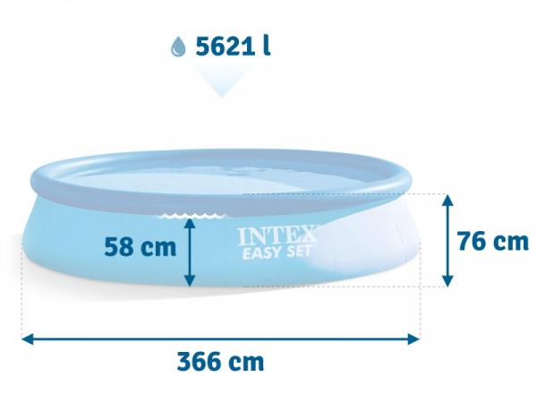 28130 Бассейн Easy Set 366x76 см без фильтра-насоса