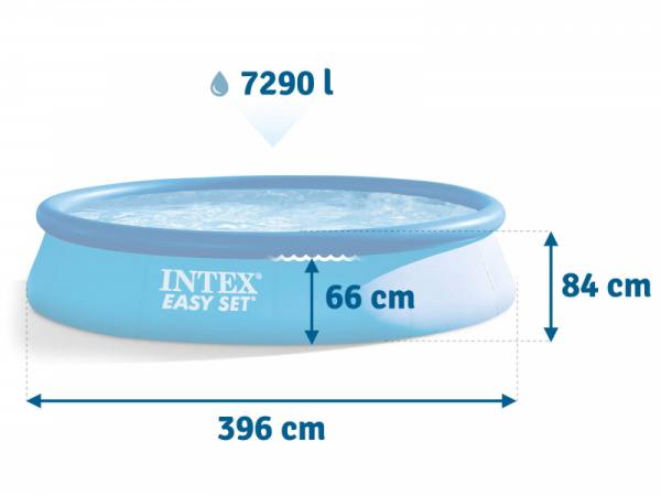 28142 Бассейн Easy Set 396x84 см с фильтр-насосом