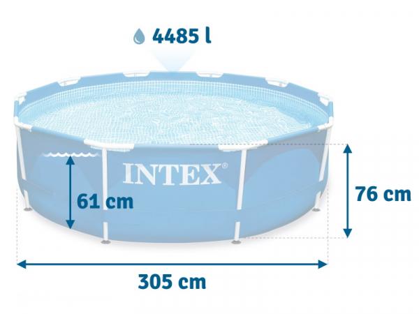 28202 Сборный (каркасный) бассейн 305х76 см с фильтр-насосом