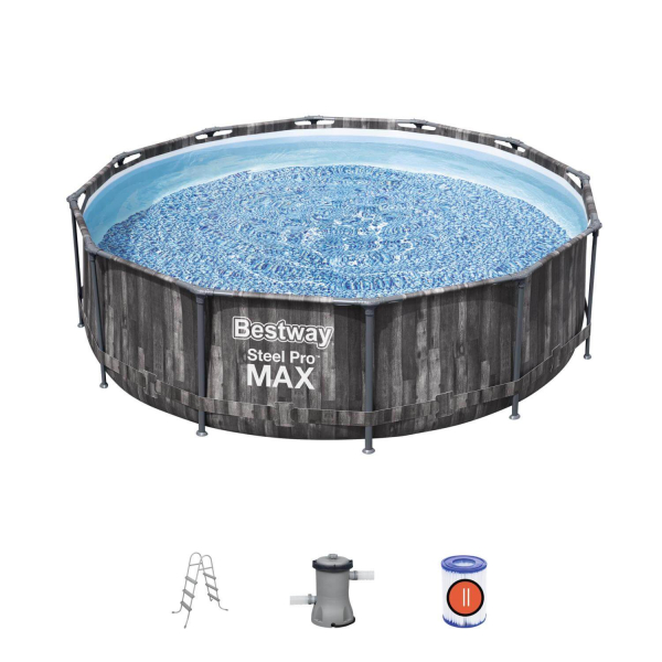 5614X Каркасный бассейн Steel Pro Max 366х100см, фил.-нас. 2006л/ч, лестница