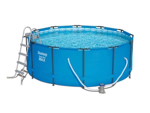 5614S Каркасный бассейн Steel Pro MAX 366х122 см + фил.-нас. 2006л/ч, лест.
