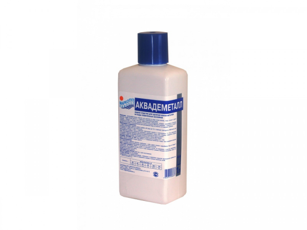 АКВАДЕМЕТАЛЛ, 1л бутылка, жидкое средство для удаление металлов