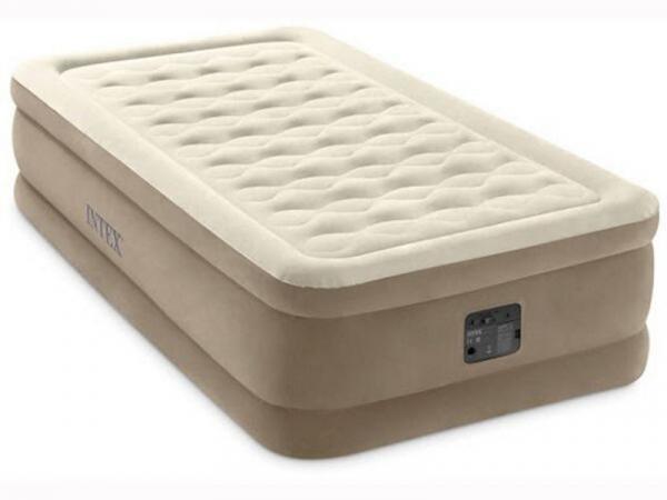 64426/64456 Надувная кровать Intex 99х191х46 со встроенным эл. насосом