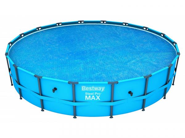 58173 BW Покрывало Solar для каркасных бассейнов 549cм (d521см) BestWay