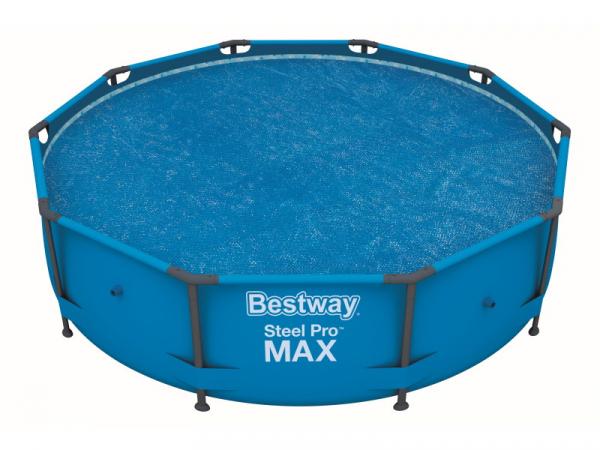 58242 BW Покрывало Solar для каркасных бассейнов 366см (d350см) BestWay