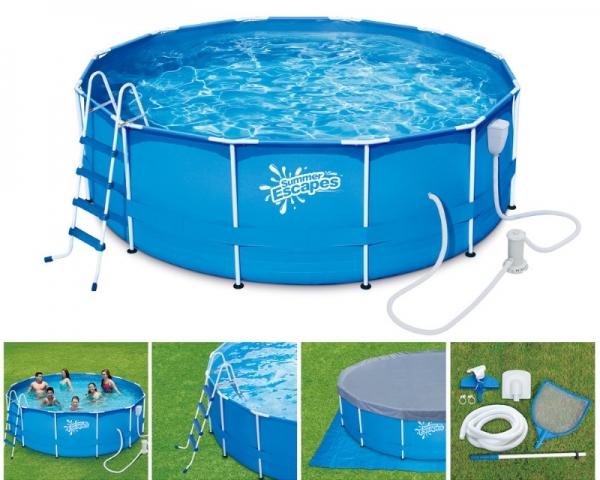 P20-1442-B Каркасный бассейн SUMMER ESCAPES 427*107 см, полный комплект
