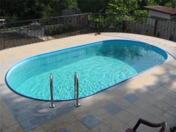 Стальной бассейн овальный (вкапываемый) 10,1 х 3,05 х 1,25м
