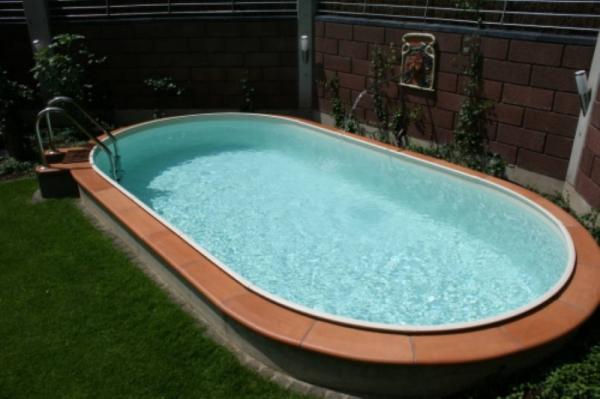 Стальной бассейн овальный (вкапываемый) 910*460*125 см